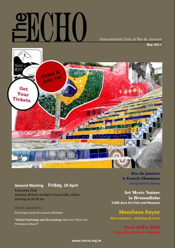 Members Foyer - Rio Societies