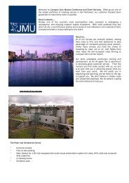 Liverpool John Moores Conference and Event Services ... - Em-Online
