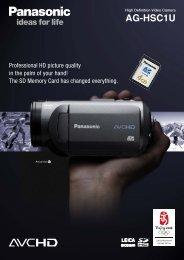 High Definition Video Camera AG-HSC1U - O'Mega FileTransfer