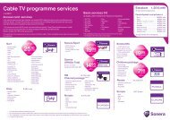 Cable TV programme services - Sonera