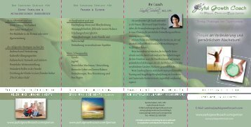 German Brochure Joyful Growth Coach - COWA