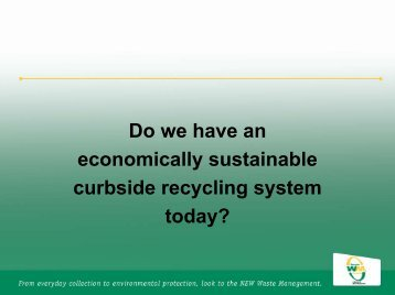 Do we have an economically sustainable ... - Recycling Today