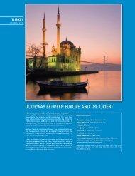 DOORWAY bETWEEN EuROpE AND ThE ORIENT