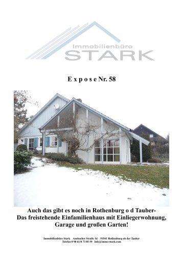 E xpose Nr. 58 Auch das gibt es noch in Rothenburg ... - Immo-Stark