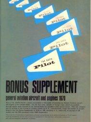 GENERAL AVIATION AIRCRAFT - 1970 rI - Aero Resources Inc