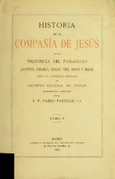 Historia de la Compañía de Jesús en la provincia del ... - Libr@rsi