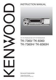 TK-7360/ TK-8360 TK-7360H/ TK-8360H