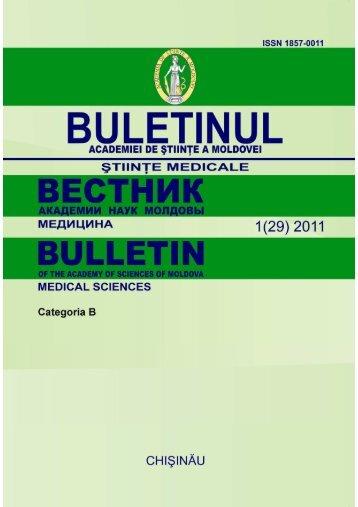 Ştiinţe Medicale - Academia de Ştiinţe a Moldovei
