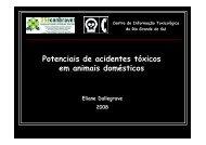 Potenciais de acidentes tóxicos em animais domésticos 2 - SOVERGS
