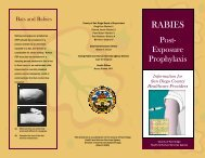 Rabies PEP - San Diego Health Reports and Documents