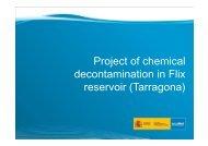 Project of chemical decontamination in Flix reservoir (Tarragona)