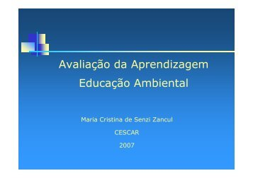 Apresentação Avaliação da Aprendizagem em EA - CDCC