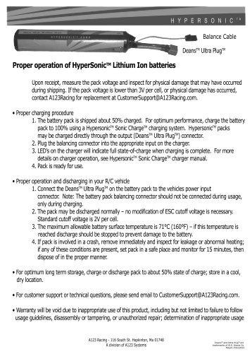 Instruction Manual Horizon Hobby