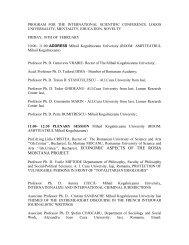 program conferinta stiintifica internationala logos universalitate ...