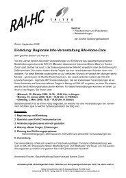 Einladung: Regionale Info-Veranstaltung RAI-Home-Care