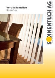 Vertikallamellen Sonnflex - Sonnentuch AG