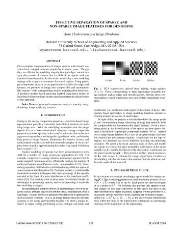 Effective Separation of Sparse and Non-Sparse Image Features for ...