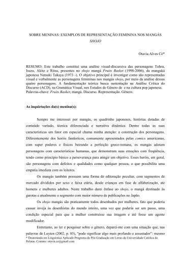 EXEMPLOS DE REPRESENTAÇÃO FEMININA NOS MANGÁS ...