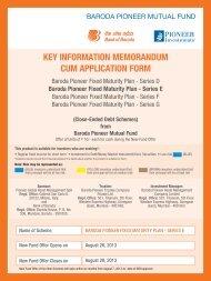 Baroda Pioneer Fixed Maturity Plan - Series E - Rrfinance.com