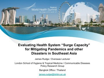 Understanding, Evaluating and Improving Health System Surge ...