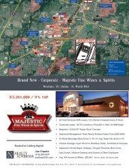 Brand New - Corporate - Majestic Fine Wines & Spirits - Property Line