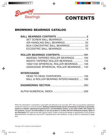 Browning bearings catalog - Hasmak