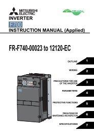 FR-F700-EC INSTRUCTION MANUAL (Applied) - MRO Stop