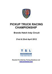 PICKUP TRUCK RACING CHAMPIONSHIP - TSL Timing