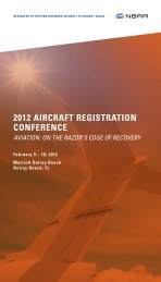 View the 2012 Aircraft Registration Conference Attendee ... - NBAA