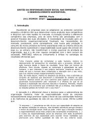 gestão da responsabilidade social nas empresas - Instituto de ...