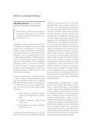 Kirja-arviot - Sosiaalipoliittinen yhdistys ry