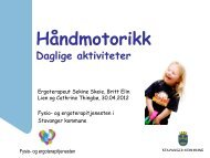Utvikling av håndmotorikk - Stavanger kommune