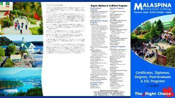 Certificates, Diplomas, Degrees, Post-Graduate & ESL Programs