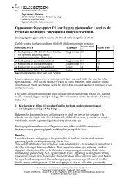 Oppsummeringsrapport kartlegging - Helse Bergen