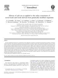 History of safe use as applied to the safety assessment of ... - Europa