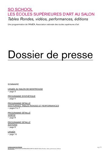 dossier de presse - ANdÉA