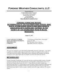 FORENSIC WEATHER CONSULTANTS, LLC
