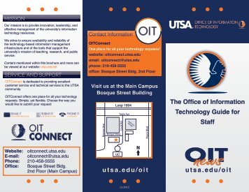 utsa edu oit the office of information technology guide for faculty rh yumpu com Faculty and Staff Directory University Faculty and Staff