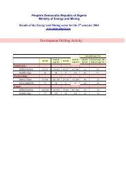 3 th quarter 2004 - Ministère de l'énergie et des mines