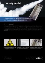 See the technical fact sheet for PROTECT Security Strobe in PDF