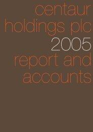 Annual Report 2005 in PDF - Hemscott IR