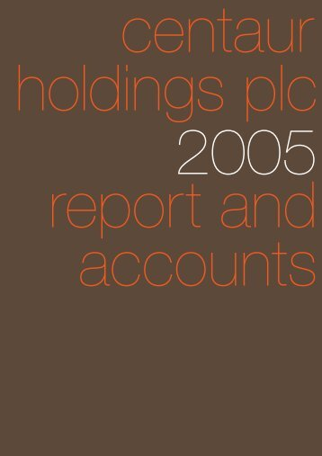 Annual Report 2005 in PDF - Hemscott IR