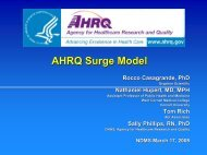 AHRQ Surge Model - The 2012 Integrated Medical, Public Health ...