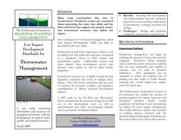 Stormwater Management - Northwestern Connecticut Planning ...