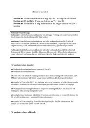 Motion nr 1 från Norrbottens FIF ang. flytt av Terräng-‐SM till hösten