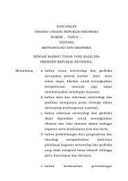 rancangan undang-undang republik indonesia nomor ... - BMG