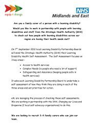 Are you a family carer of a person with a learning disability ... - Omega