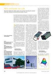 Aktiv und kreativ mit Licht - RHEINTACHO Messtechnik GmbH