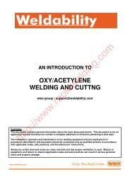 oxy/acetylene welding and cuttng - Rapid Welding and Industrial ...
