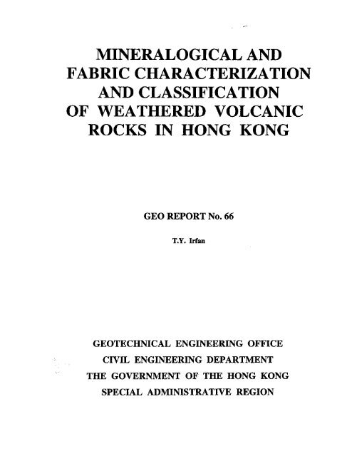 mineralogical and fabric characterization and classification of ...